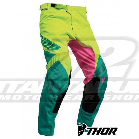 Pantaloni Cross Thor PULSE FACTOR - Acid Teal
