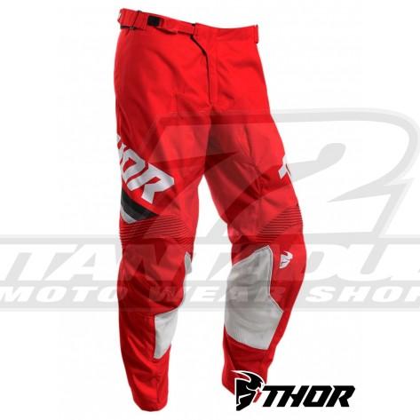 Pantaloni Cross Thor PULSE PINNER - Rosso Bianco