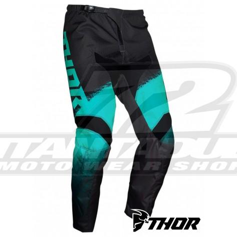 Pantaloni Cross Bambino Thor Youth SECTOR VAPOR - Menta Carbone