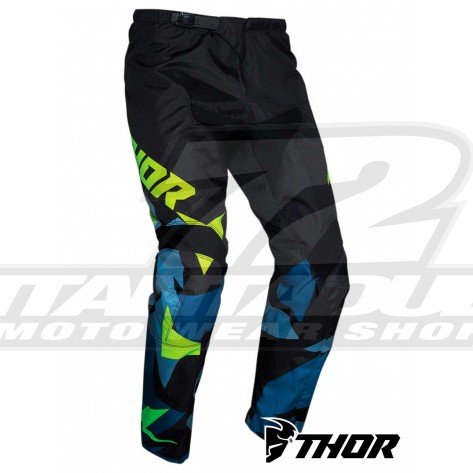 Pantaloni Cross Bambino Thor Youth SECTOR WARSHIP - Blu Acid