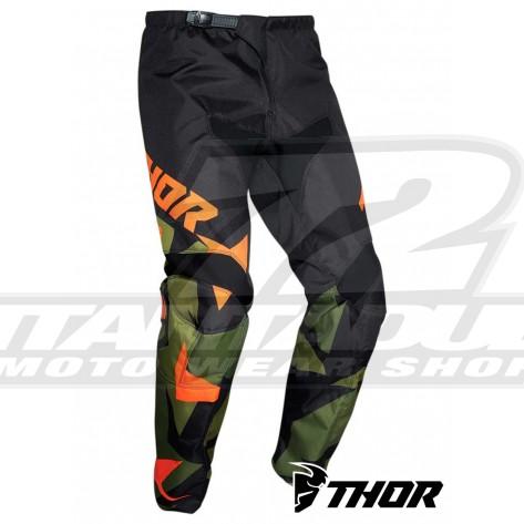 Pantaloni Cross Bambino Thor Youth SECTOR WARSHIP - Verde Arancione