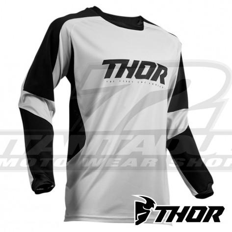 Maglia Enduro Thor TERRAIN - Grigio Chiaro Nero