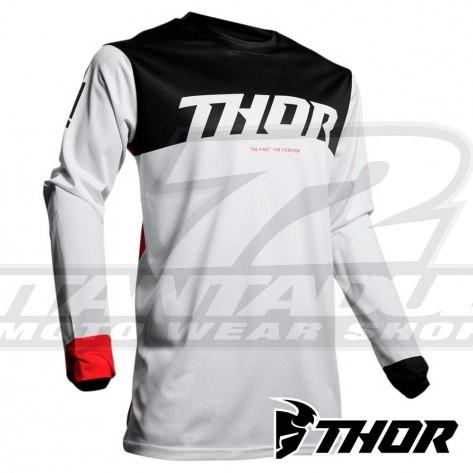 Maglia Cross Thor PULSE AIR FACTOR - Bianco Rosso