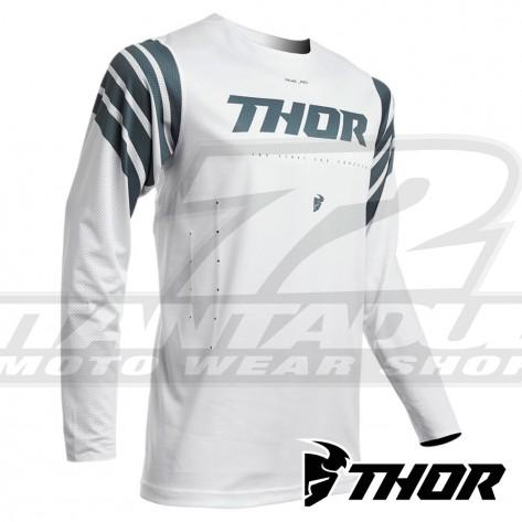 Maglia Cross Thor PRIME PRO STRUT - Bianco Grigio Ardesia