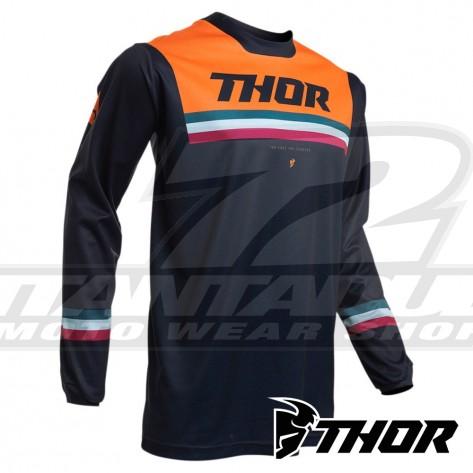 Maglia Cross Thor PULSE PINNER - Blu Notte Arancione
