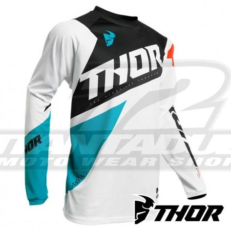 Maglia Cross Thor SECTOR BLADE - Bianco Acqua