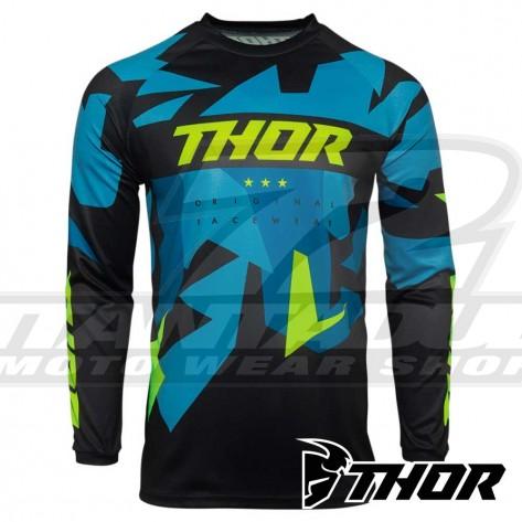 Maglia Cross Thor SECTOR WARSHIP - Blu Acid