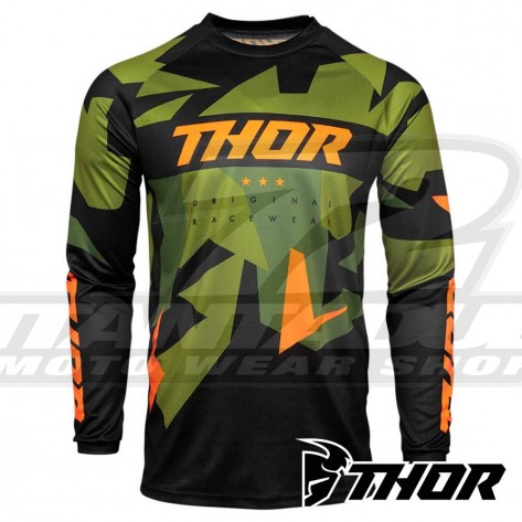 Maglia Cross Bambino Thor Youth SECTOR WARSHIP - Verde Arancione