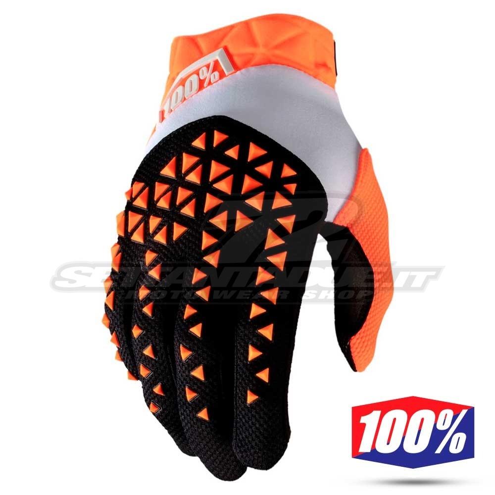 100/% Guanti Motocross Bambini-Airmatic-NAVY-ORANGE