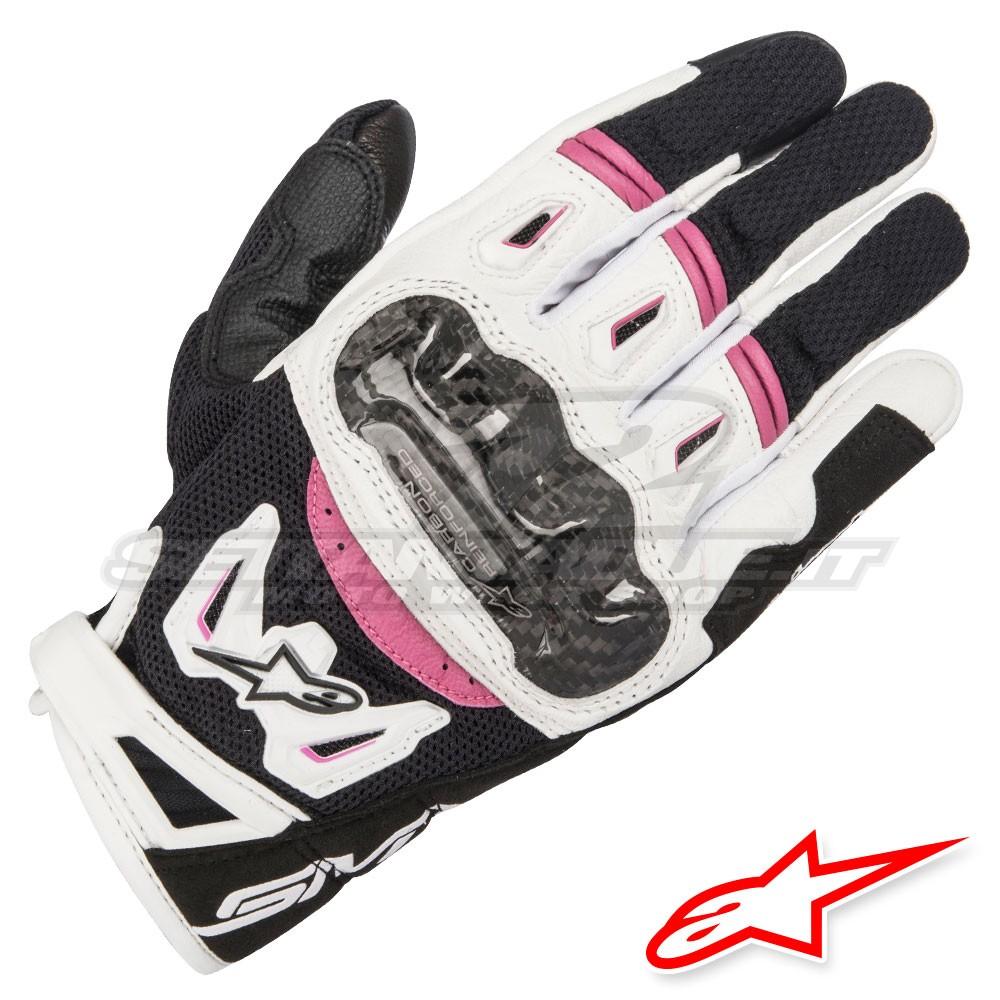 Guanti in Mesh e Pelle Alpinestars STELLA SMX-2 AIR CARBON Gloves con Protezioni