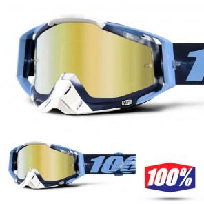 100% Maschera THE RACECRAFT Tiedye - Lente Oro Specchio