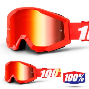 100% Maschera THE STRATA JUNIOR Furnace - Lente Rosso Specchio
