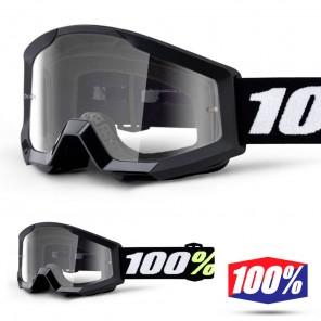 100% Maschera THE STRATA MINI Grom Black - Lente Trasparente