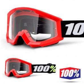100% Maschera THE STRATA MINI Grom Red - Lente Trasparente