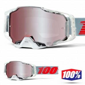 Maschera Cross 100% ARMEGA X-Ray - Lente HiPER Argento Specchio