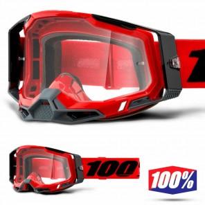 Maschera Cross 100% RACECRAFT2 Red - Lente Trasparente