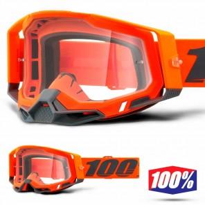 Maschera Cross 100% RACECRAFT2 Kerv - Lente Trasparente