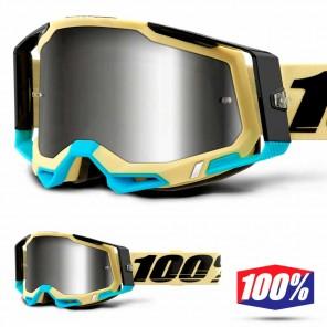 Maschera Cross 100% RACECRAFT2 Airblast - Lente Argento Specchio