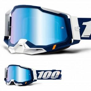 Maschera Cross 100% RACECRAFT2 Concordia - Lente Blu Specchio