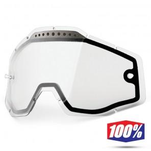 100% Lente Maschere - Doppia Ventilata Trasparente