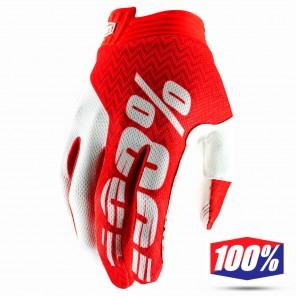 Guanti Cross 100% iTRACK - Rosso Bianco