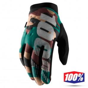Guanti Motocross 100% BRISKER - Camo Black