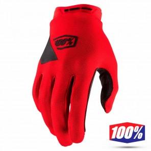 Guanti Motocross 100% RIDECAMP - Nero Rosso