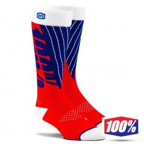 Calze Motocross 100% TORQUE Comfort - Rosso Blu