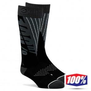 Calze Motocross 100% TORQUE Comfort - Nero Grigio Acciaio
