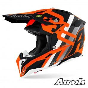 Casco Motocross Airoh AVIATOR 3 Rainbow - Arancione Opaco