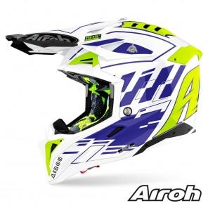 Casco Motocross Airoh AVIATOR 3 Rampage - Blu