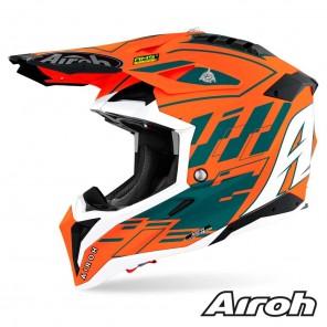 Casco Motocross Airoh AVIATOR 3 Rampage - Arancione