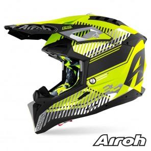 Casco Motocross Airoh AVIATOR 3 Wave - Giallo Opaco