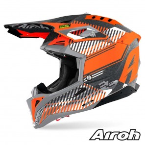 Casco Motocross Airoh AVIATOR 3 Wave - Arancione Cromo