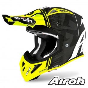 Casco Motocross Airoh AVIATOR ACE Kybon - Giallo Opaco