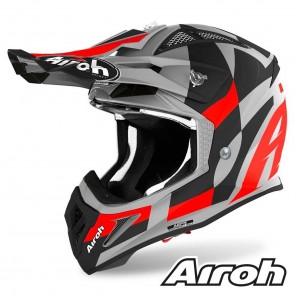 Casco Motocross Airoh AVIATOR ACE Trick - Rosso Opaco