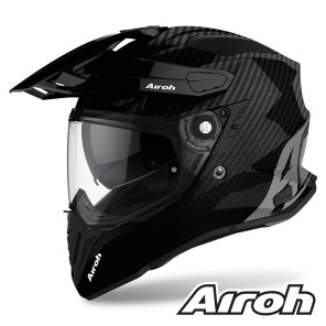 Casco Moto Crossover Airoh COMMANDER Carbon - Nero