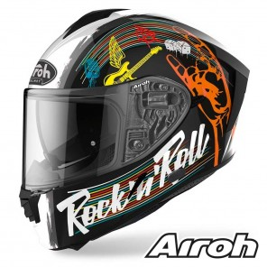 Casco Moto Integrale Airoh SPARK Rock'n'roll - Nero