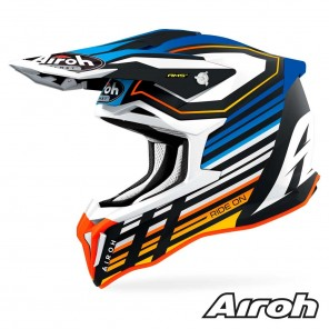 Casco Motocross Airoh STRYCKER Shaded - Blu Opaco