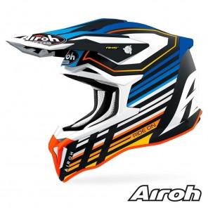 Casco Motocross Airoh STRYCKER Shaded - Blu Opaco