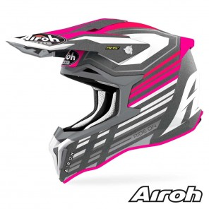 Casco Motocross Airoh STRYCKER Shaded - Rosa Opaco