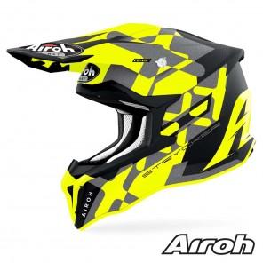 Casco Motocross Airoh STRYCKER XXX - Giallo Opaco