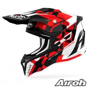 Casco Motocross Airoh STRYCKER XXX - Rosso