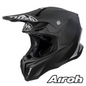 Casco Motocross Airoh TWIST Color - Nero Opaco