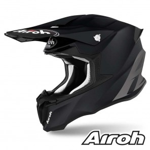Casco Motocross Airoh TWIN 2.0 Color - Nero Opaco