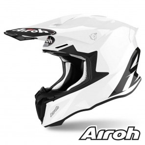 Casco Motocross Airoh TWIN 2.0 Color - Bianco