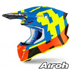 Casco Motocross Airoh TWIN 2.0 Frame - Azzurro Opaco