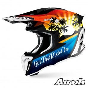 Casco Motocross Airoh TWIN 2.0 Lazyboy - Lucido