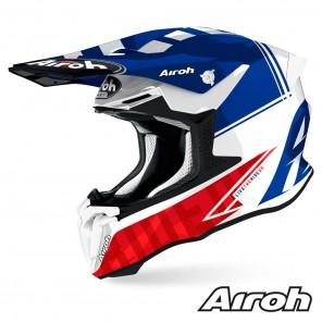 Casco Motocross Airoh TWIN 2.0 Tech - Blu