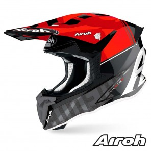 Casco Motocross Airoh TWIN 2.0 Tech - Rosso